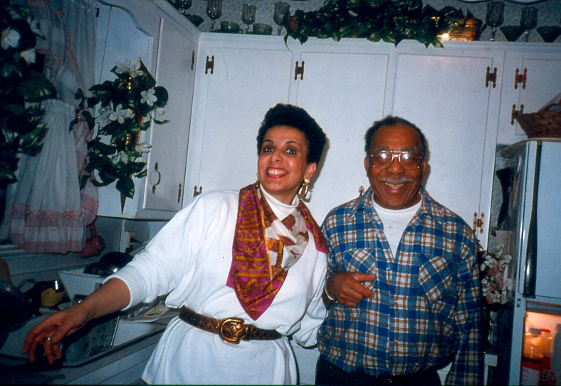 My sister and dad during happier times